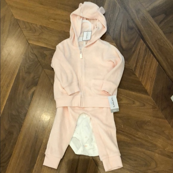 BNWT Carter's Terry Cloth 3 Piece sweat suit